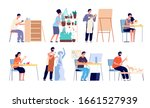 creative workers. handicraft... | Shutterstock .eps vector #1661527939