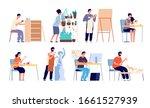 creative workers. handicraft... | Shutterstock .eps vector #1661527939