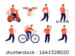 delivery man. service boy ... | Shutterstock .eps vector #1661528020