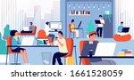 coworking space. smart... | Shutterstock .eps vector #1661528059