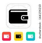 wallet icon on white background....