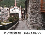 Narrow Street In Alpine Villag...