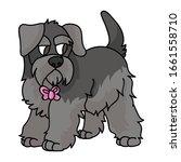 cute cartoon schnauzer puppy...   Shutterstock .eps vector #1661558710