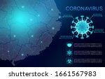 coronavirus abstract background.... | Shutterstock .eps vector #1661567983