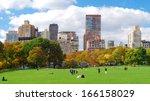 new york city manhattan skyline ... | Shutterstock . vector #166158029