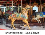 Carousel At Navy Pier In Chicago