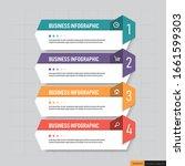 infographics template 4 options ... | Shutterstock .eps vector #1661599303