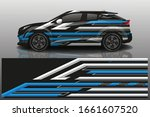 city car wrapping decal design   Shutterstock .eps vector #1661607520