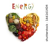 energy food choice   studio... | Shutterstock . vector #166161404