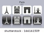 landmarks of paris. set of... | Shutterstock . vector #166161509