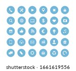 website blue round vector icons ... | Shutterstock .eps vector #1661619556