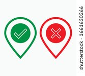 checkmark and cross icon. agree ...