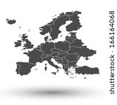 europe map background... | Shutterstock . vector #166164068