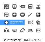 computer parts vector line... | Shutterstock .eps vector #1661664163