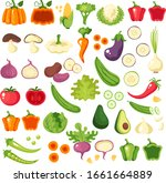 vegetables icon collection... | Shutterstock .eps vector #1661664889