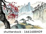 Chinese Painting Of Mountains...