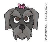 cute cartoon schnauzer dog...   Shutterstock .eps vector #1661694670