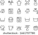 set of laundry icons  clean ... | Shutterstock .eps vector #1661707780