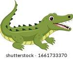 cartoon crocodile isolated on... | Shutterstock .eps vector #1661733370
