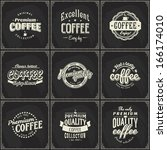 coffee shop label with retro... | Shutterstock .eps vector #166174010