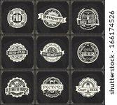 set of retro styled chalk... | Shutterstock .eps vector #166174526
