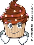 cool chocolate cupcake mascot... | Shutterstock .eps vector #1661781640