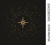 map of zodiac constelattions.... | Shutterstock .eps vector #1661802343