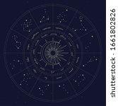 map of zodiac constelattions.... | Shutterstock .eps vector #1661802826