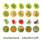 set of colorful flat design... | Shutterstock .eps vector #1661811109