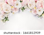 Delicate Blossoming Roses And...
