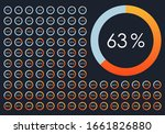 percentage pie chart set. from...