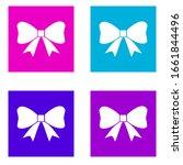 bow icon . simple glyph vector...