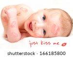 kissing baby boy  curious...   Shutterstock . vector #166185800