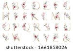 Gold Letters Set  Alphabet With ...