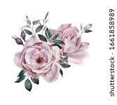 bouquet of roses  can be used... | Shutterstock . vector #1661858989