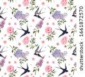 beautiful gentle spring... | Shutterstock . vector #1661872570