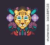 leopard stylized illustration.... | Shutterstock .eps vector #1661889133