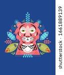 tiger stylized illustration.... | Shutterstock .eps vector #1661889139