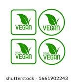 vegan icon set on white... | Shutterstock .eps vector #1661902243