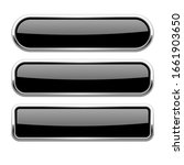 black glass buttons with metal... | Shutterstock .eps vector #1661903650