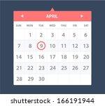 vector illustration of calendar ...   Shutterstock .eps vector #166191944
