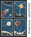 space illustrations  retro... | Shutterstock .eps vector #1661952160