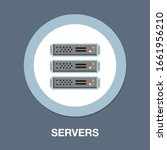 server icon. flat illustration... | Shutterstock .eps vector #1661956210