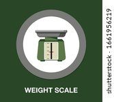 vector weight scale icon  ... | Shutterstock .eps vector #1661956219