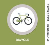 vector bicycle icon  vector... | Shutterstock .eps vector #1661956363