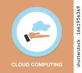 computing cloud icon. flat... | Shutterstock .eps vector #1661956369