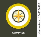 compass icon. flat illustration ... | Shutterstock .eps vector #1661956420