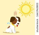 heat stroke and summer... | Shutterstock .eps vector #1661963803