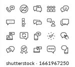 simple set of message line... | Shutterstock .eps vector #1661967250