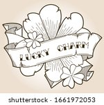 lucky charm four leaf clovers... | Shutterstock .eps vector #1661972053